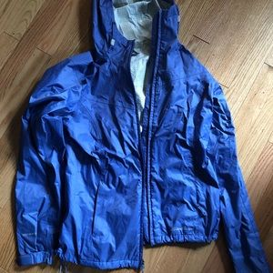 Eddie Bauer Rain Jacket Shell travel small blue